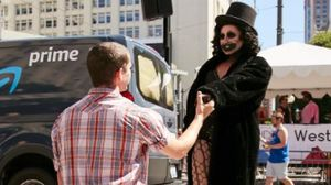 A Drag Queen Dressed Like The Babadook Got Engaged At Seattle Pride