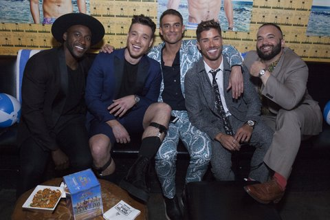 NEW YORK, NY - APRIL 20:  (L-R) Khasan Brailsford, Jorge Bustillos, Patrick McDonald, Cheyenne Parker, and Justin Russo attend Logo TV Fire Island Premiere Party at Atlas Social Club on April 20, 2017 in New York City.  (Photo by Santiago Felipe/Getty Images for VH1 & Logo Communications)