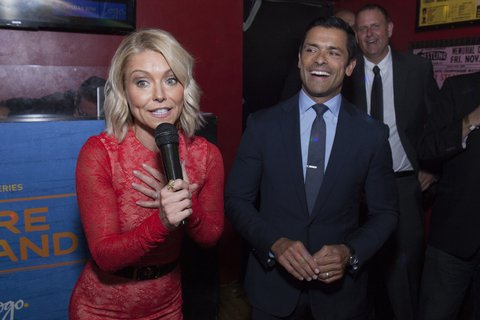 NEW YORK, NY - APRIL 20:  Kelly Ripa and Mark Consuelos attend Logo TV Fire Island Premiere Party at Atlas Social Club on April 20, 2017 in New York City.  (Photo by Santiago Felipe/Getty Images for VH1 & Logo Communications)