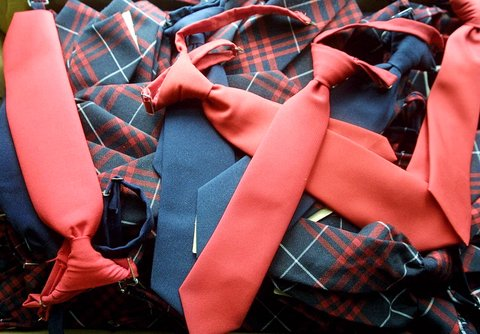 393272 04: Clip-on ties for school uniforms on sale at Craft Clothes August 15, 2001 in New York City. Students around the country are preparing to head back to school as their summer vacations wind down. ( Photo by Mario Tama/Getty Images)