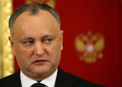 MOSCOW, RUSSIA - JANUARY 17: (RUSSIA OUT)  Moldovan President Igor Dodon speeches during his joint press conference with Vladimir Putin (not pictured) at the Kremlin on January 17, 2017 in Moscow, Russia. Newly elected President of Moldova Igor Dodon visits Russia for the first time. (Photo by Mikhail Svetlov/Getty Images)