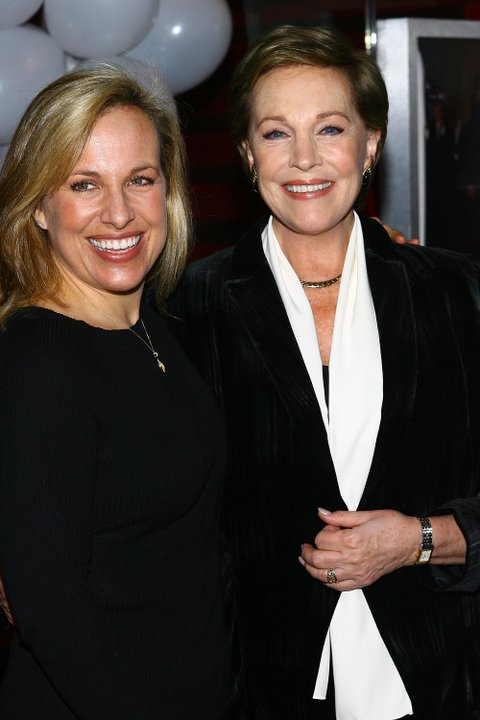 NEW YORK - JANUARY 30:  (L-R) Emma Walton Hamilton poses for photos with her mother and actress Julie Andrews during the kick off for Kids' Night on Broadway at Madame Tussauds on January 30, 2007 in New York City.  (Photo by Scott Wintrow/Getty Images)