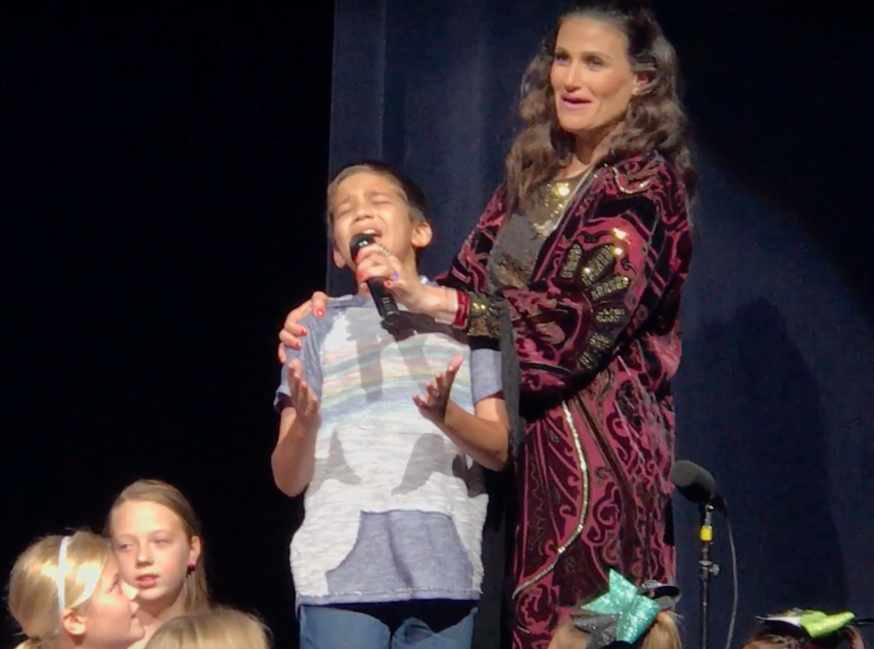Watch Little Boy Slay 'Let It Go' at an Idina Menzel Concert