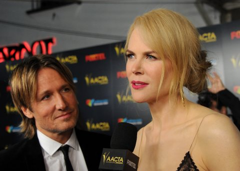 LOS ANGELES, CA - JANUARY 06:  Actress Nicole Kidman and musician Keith Urban arrive at the 6th AACTA International Awards at Avalon Hollywood on January 6, 2017 in Los Angeles, California.  (Photo by Gregg DeGuire/WireImage)