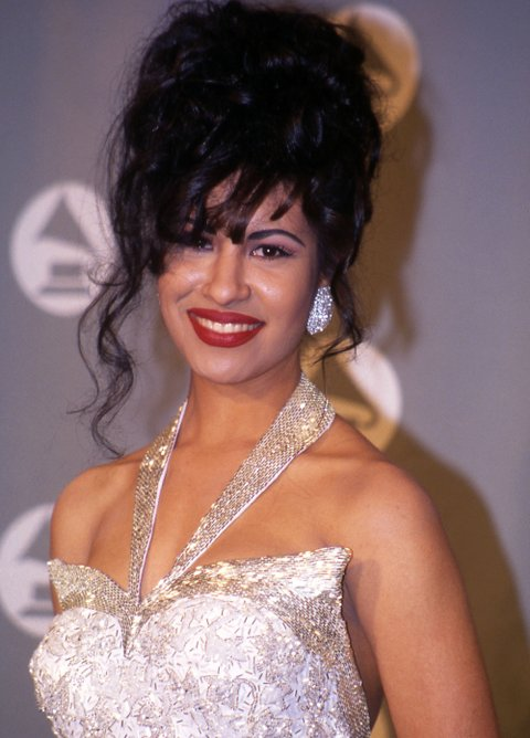 Selena in the press room at the 1994 Grammy Awards in New York City, New York  ©2005 Vincent Zuffante_Star File