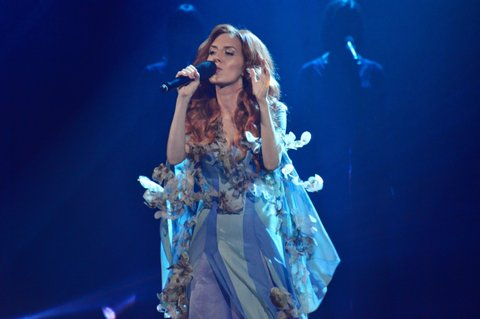 KIEV, UKRAINE - 2017/02/11: Singer ILLARIA participant of the second semi-final of the national selection for Eurovision-2017,. (Photo by Alexandr Gusev/Pacific Press/LightRocket via Getty Images)