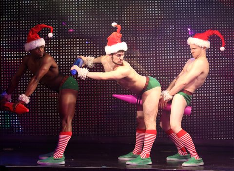 NEW YORK, NY - JANUARY 26:  Dancers performing at Broadway Bares: Winter Burlesque - Calendar Girl at XL Nightclub on January 26, 2014 in New York City.  (Photo by Walter McBride/Getty Images)