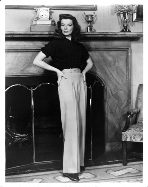 Katharine Hepburn in a scene from the film 'The Philadelphia Story', 1940. (Photo by Metro-Goldwyn-Mayer/Getty Images)