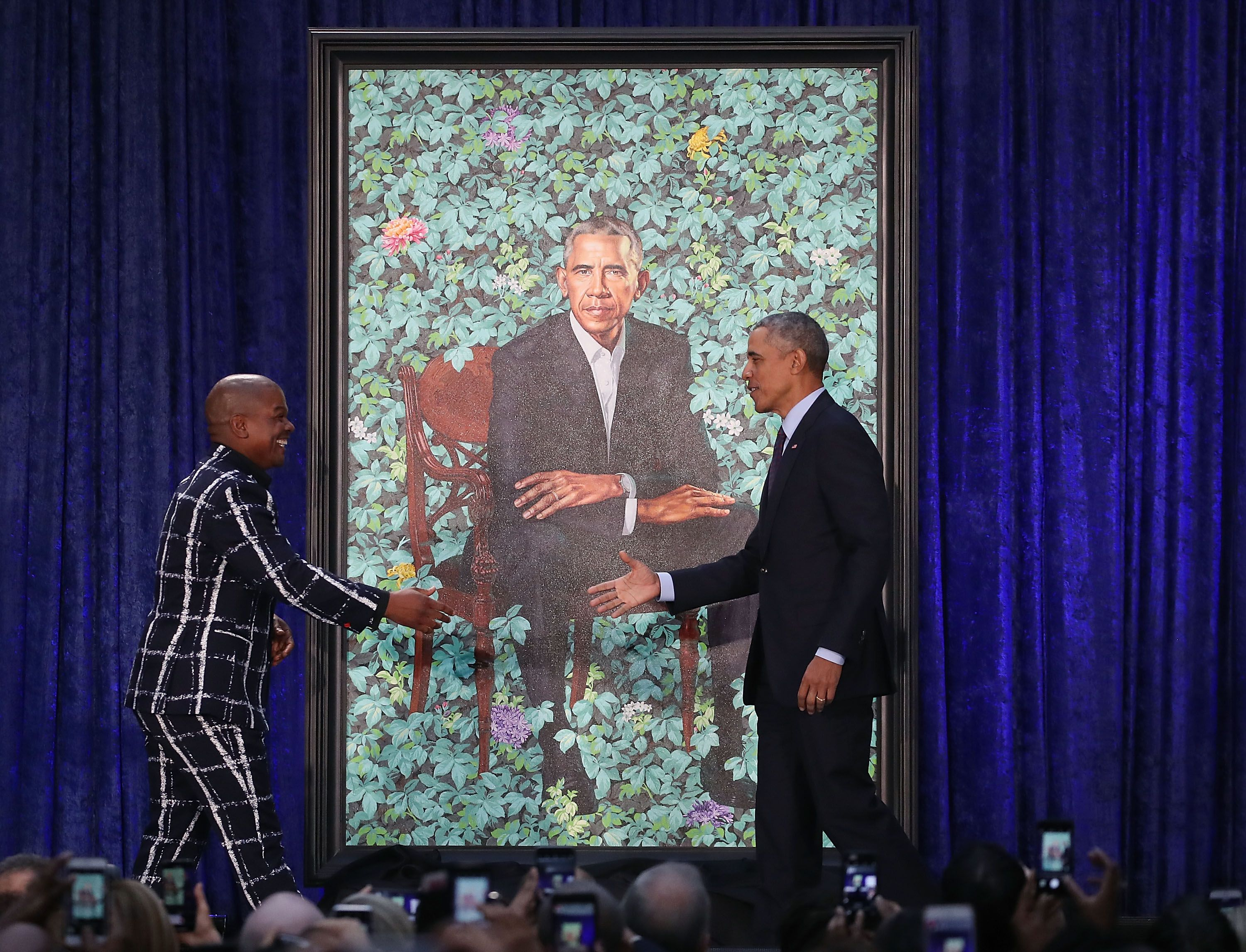 Michelle Obama's presidential portrait has some people scratching their heads