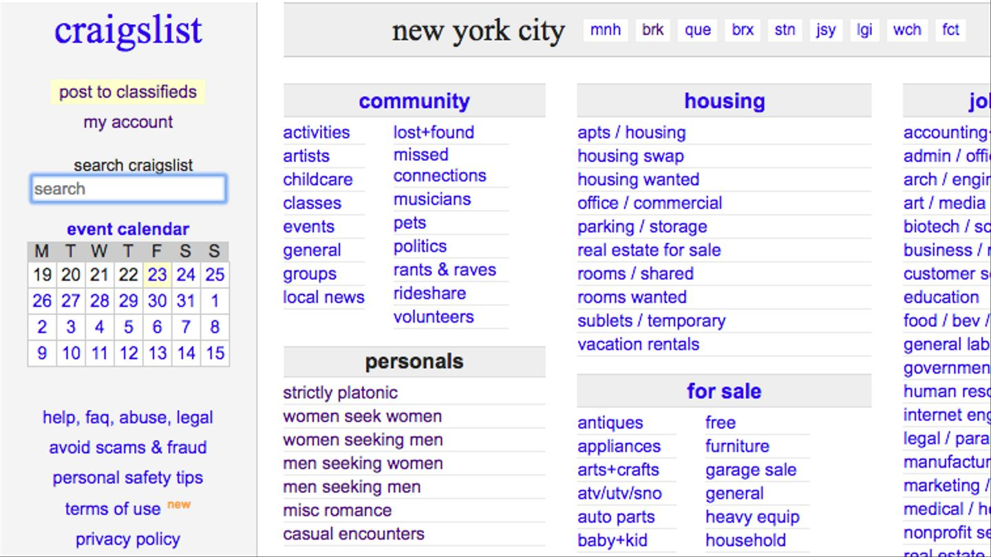 bill shuts down craigslist's personals section: where will you find
