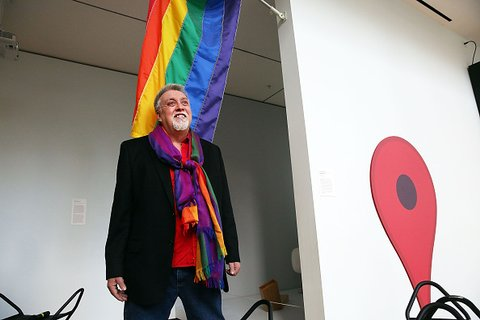 Rainbow Flag Creator Gilbert Baker Speaks At MOMA, After Museum Acquires Flag For Permanent Collection