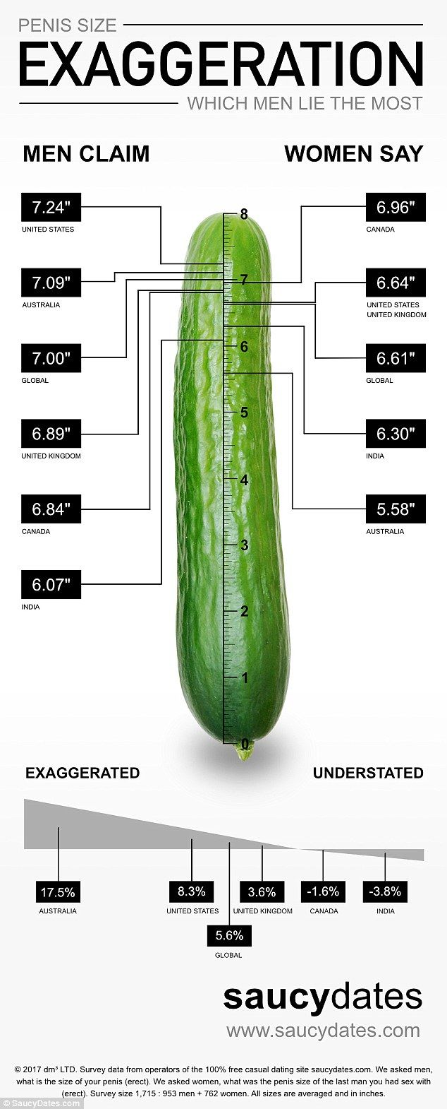 Average length of an erect penis