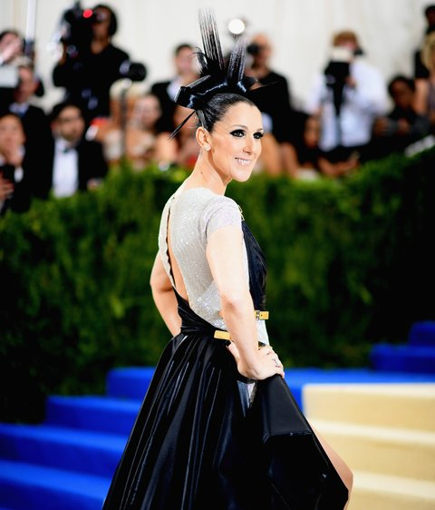 NEW YORK, NEW YORK - MAY 01: Celine Dion attends the 'Rei Kawakubo/Comme des Garcons: Art Of The In-Between' Costume Institute Gala at Metropolitan Museum of Art on May 1, 2017 in New York City. (Photo by Dimitrios Kambouris/Getty Images)
