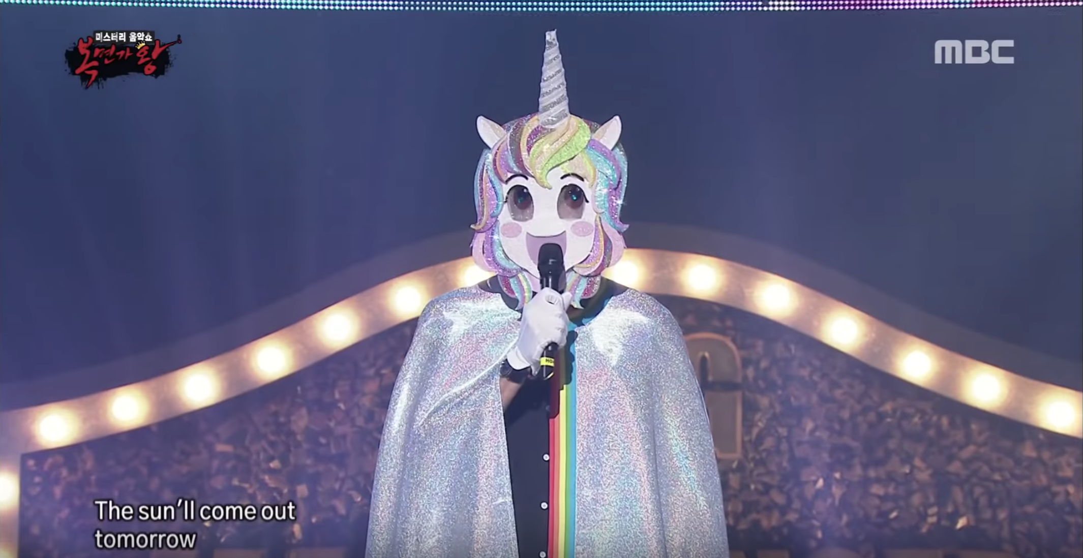 Reynolds Dons Unicorn Costume, Sings Annie Soundtrack on Korean TV